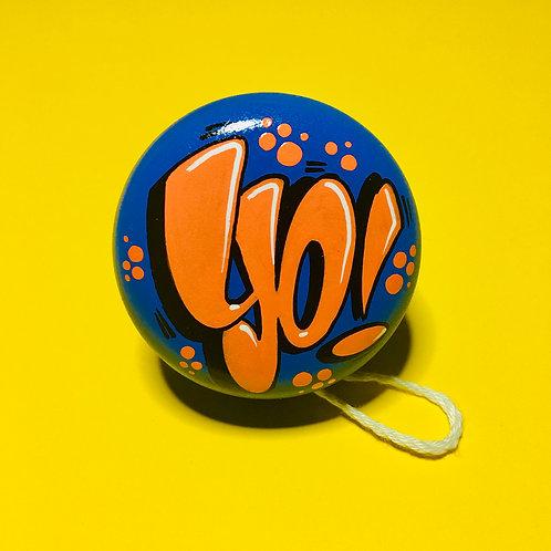 Yoyo n°13 (Bleu royal/Orange)