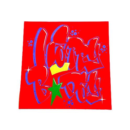 Carte (Orange fluo/Bleu)