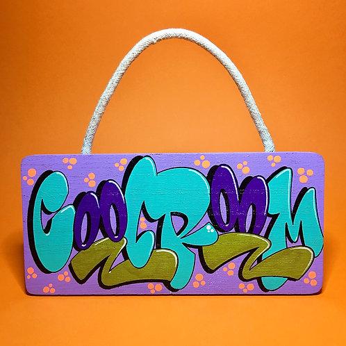 Pancarte (Lilas/Turquoise/Violet foncé)