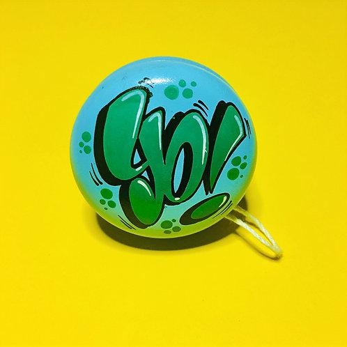 Yoyo n°18 (Bleu ciel/Vert foncé)