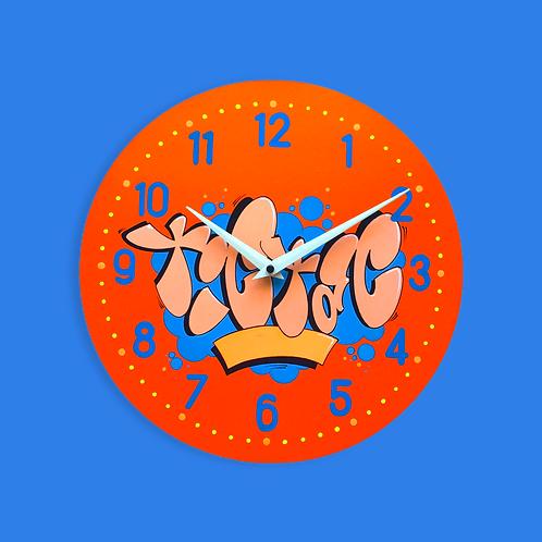 """Horloge """"Tic Tac"""" (Bleu/Orange)"""