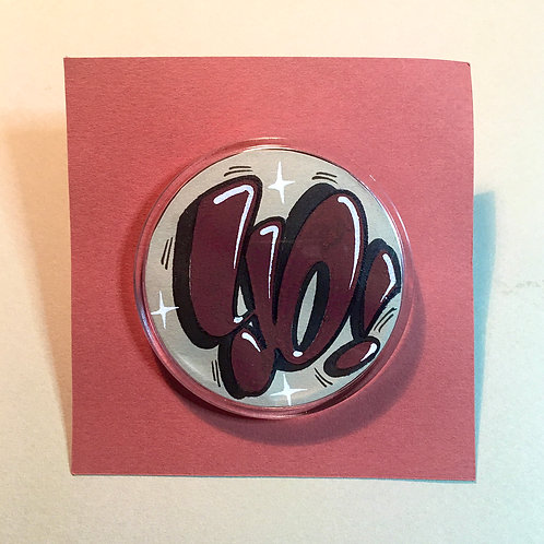 Badge (Blanc cassé/Bordeaux)