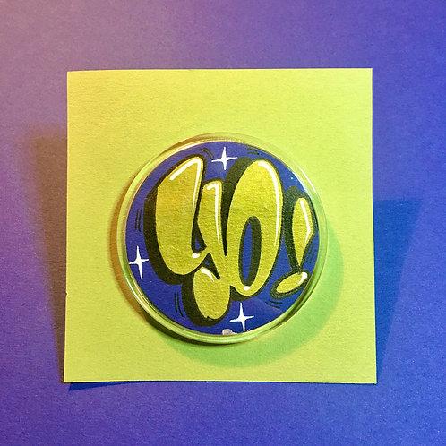 Badge (Bleu royal/Doré)