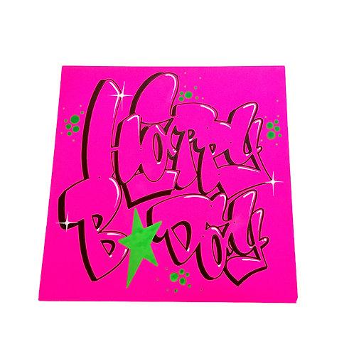Carte (Rose fluo/Vert)