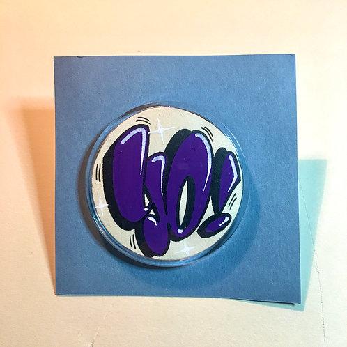 Badge (Blanc cassé/Violet foncé)