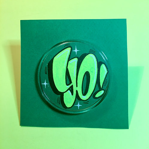 Badge (Vert foncé/Vert flashy)