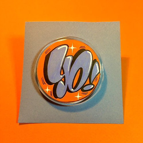 Badge (Orange/Bleu ciel)