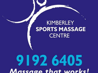 Welcome to Kimberley Sports Massage Centre' new web page