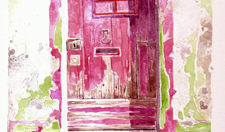 'Pink Door in Algarve'