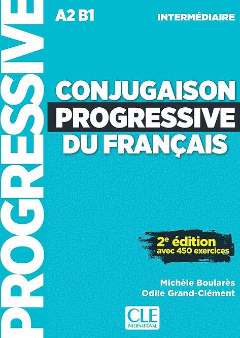 Conjugaison progressive du français - Niveau intermédiaire (A2/B1) - Livre + CD