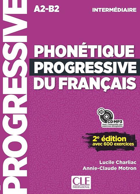 Phonétique progressive du français - Niveau intermédiaire (A2/B1) - Livre + CD