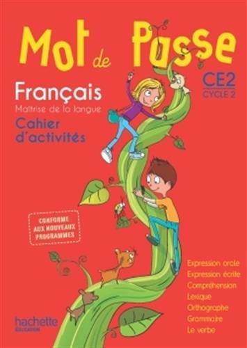 MOT DE PASSE FRANCAIS CE2 CAHIER
