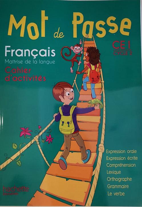 MOT DE PASSE FRANCAIS CE1 CAHIER