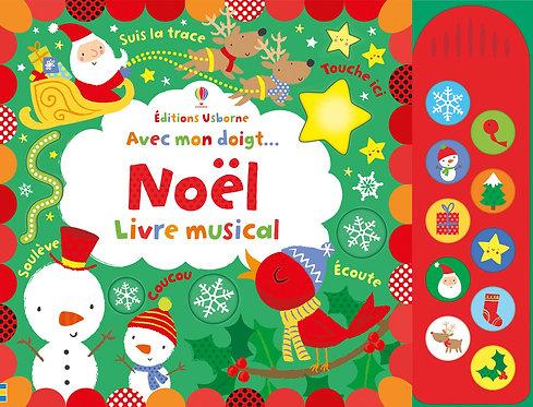 Avec mon doigt... Noël - Livre musical