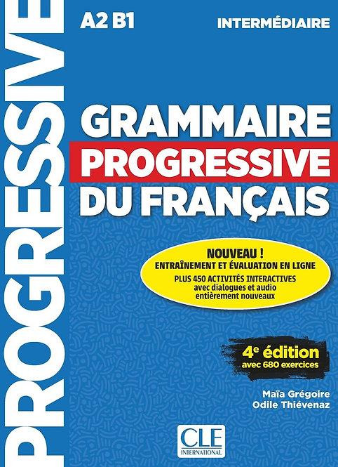 Grammaire progressive du français - Niveau intermédiaire (A2/B1) - Livre + CD