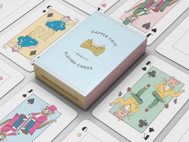 Dapper Cats Playing Cards
