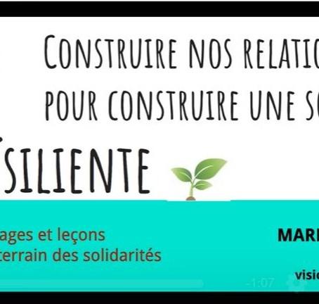 Construire nos relations pour construire une société résiliente