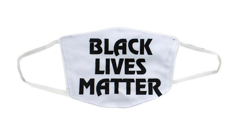 Black Lives Matter Face Mask White