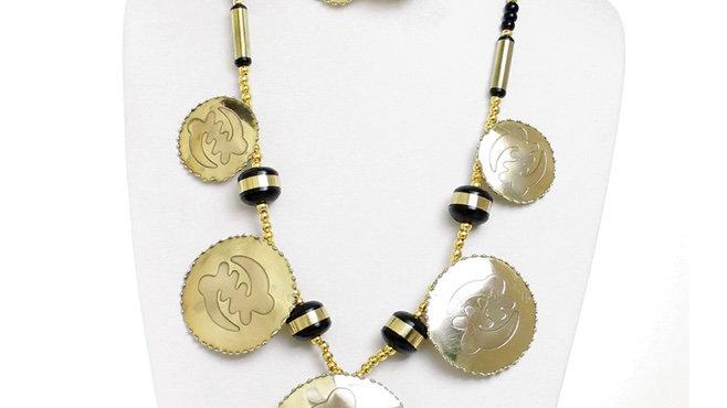Brass Gye Nyame Jewelry Set