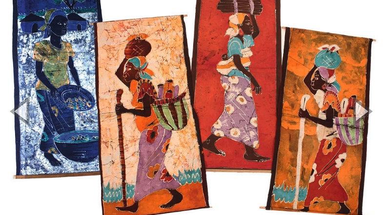 Batik Tapestry Woman