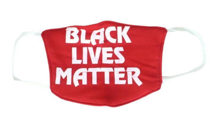 Black Lives Matter Face Mask  Red