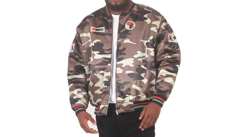 Men's African Camo Bomber Jacket