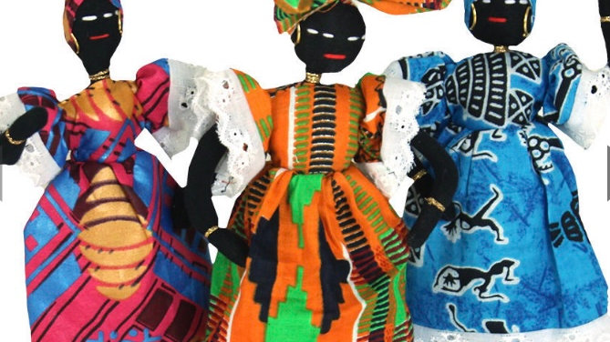 African Cloth Doll Small