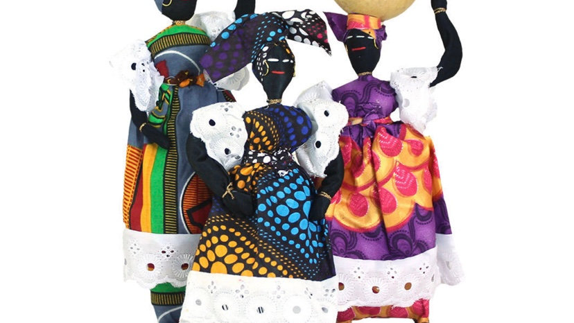 African Cloth Doll  Medium