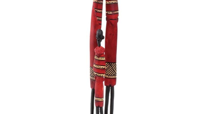 Maasai Family Stick Carving