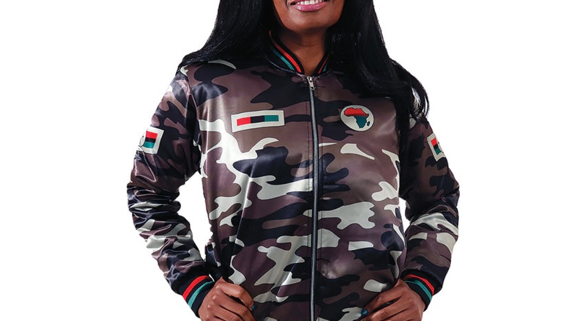 Woman's African Camo Jacket