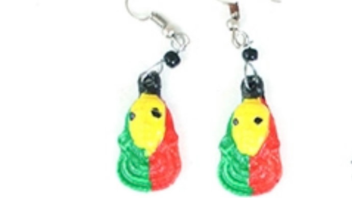 Afrocentric Bone Earrings