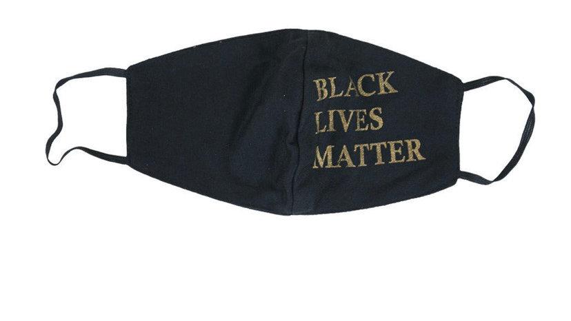 Black Lives Matter Face Mask (With Gold)