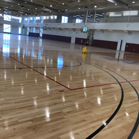 Boston College Recreational Center, Chestnut Hill, MA - Final Cleaning