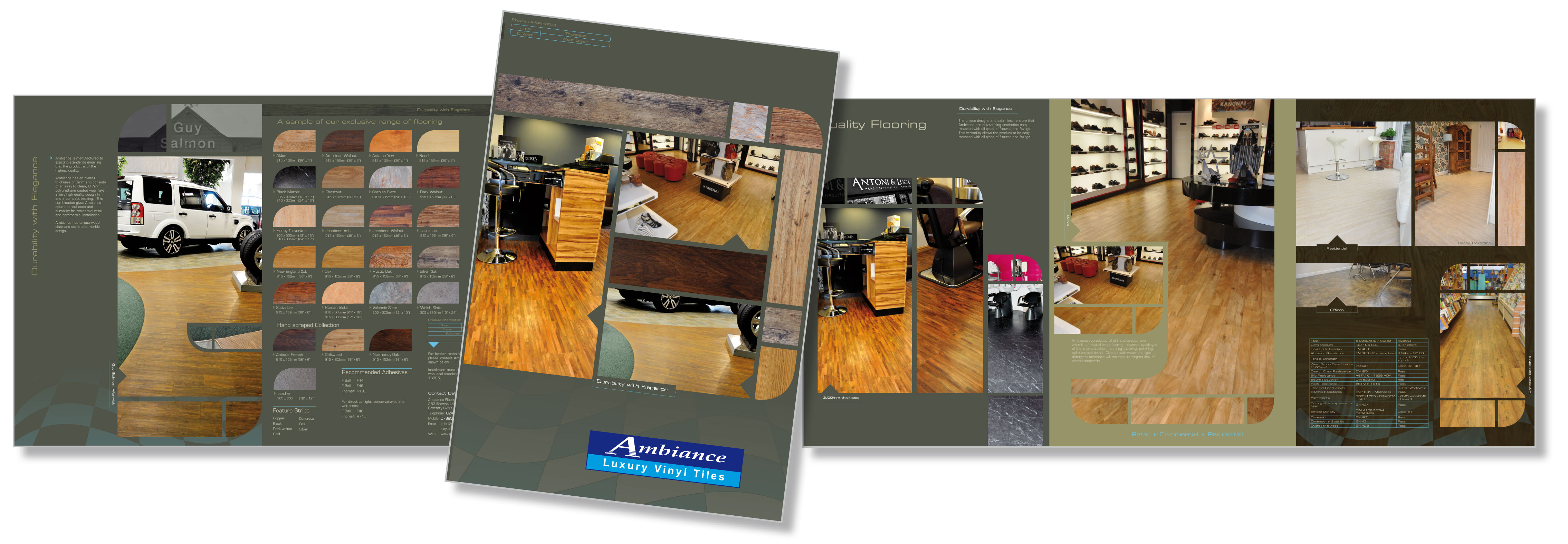 Flooring brochure design