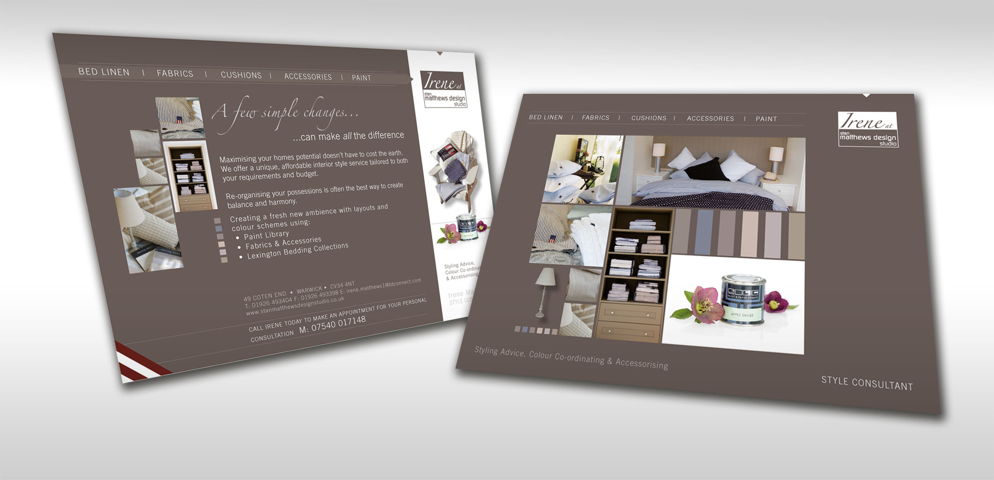 Flyer design for interior designer