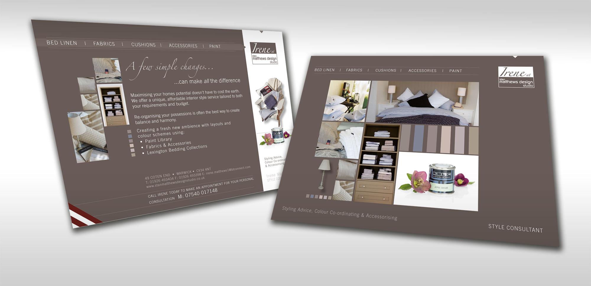 Flyer design for interior designer