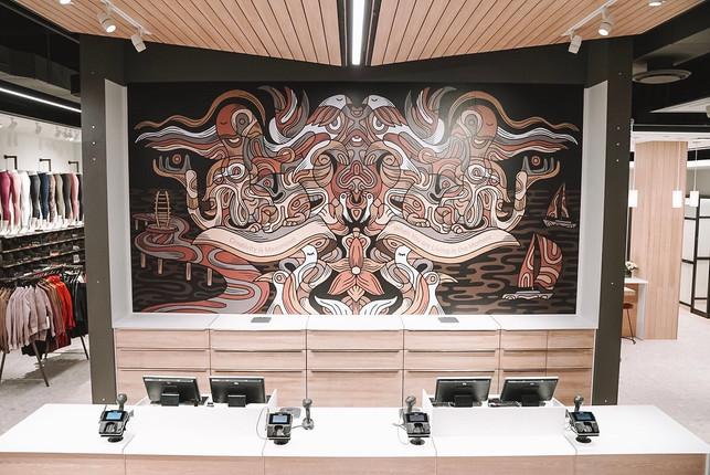 Lululemon Mural at Mapleview Mall, Burlington