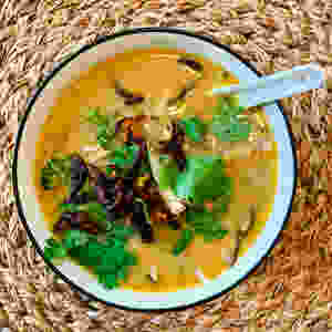 Immune Soup with coconut oil