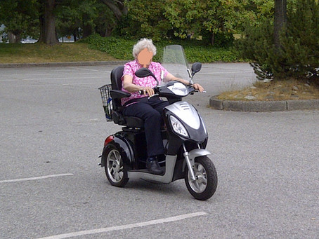 Mobility Scooter Being Donated