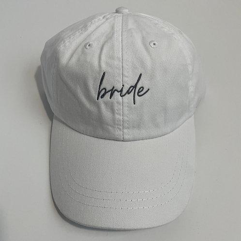 Bride Baseball Cap - White/Gray