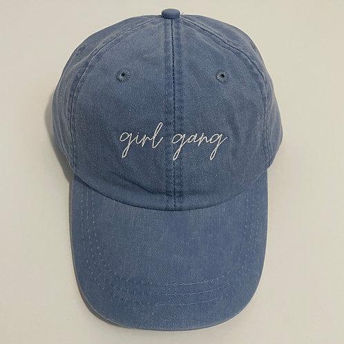 Girl Gang Baseball Cap - Periwinkle/White