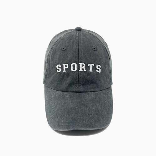 SPORTS Embroidered Pigment-Dyed Baseball Cap