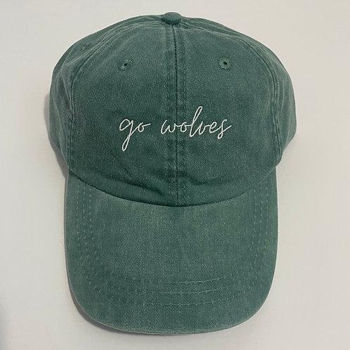 Go Wolves Baseball Cap - Forest/White