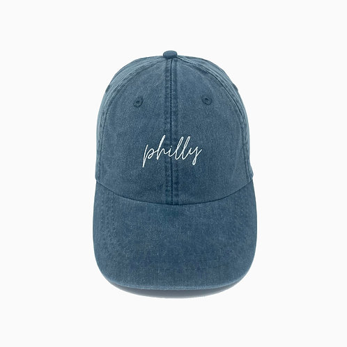 Philly (PA) Embroidered Pigment-Dyed Baseball Cap
