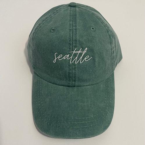 Seattle Baseball Cap - Forest/White