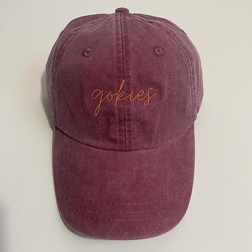 Gokies Baseball Cap - Burgundy/Burnt Orange