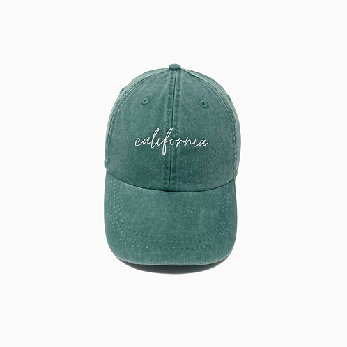 California Embroidered Pigment-Dyed Baseball Cap