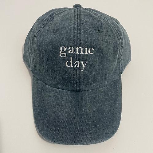 Game Day Baseball Cap - Navy/White