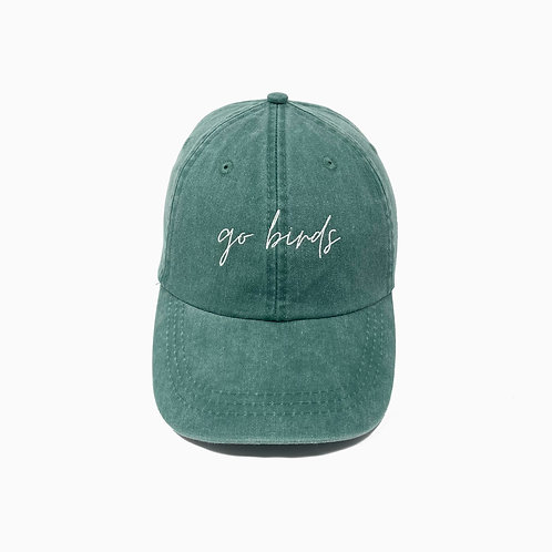Go Birds Embroidered Pigment-Dyed Baseball Cap