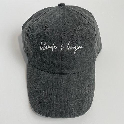 Blonde & Boujee Baseball Cap - Charcoal/White